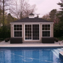 Sunroom with Vinyl Siding, finished interior tongue and groove pine and electirc