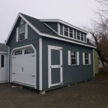 2 story wood garage
