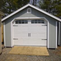 Wood garage
