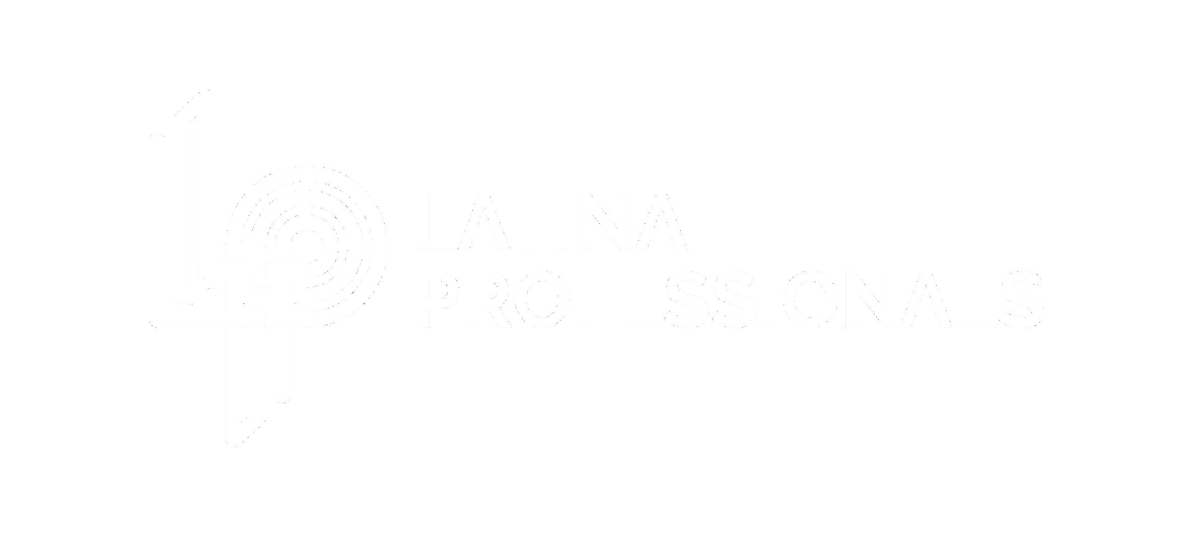 Latina Professionals white on transparent background