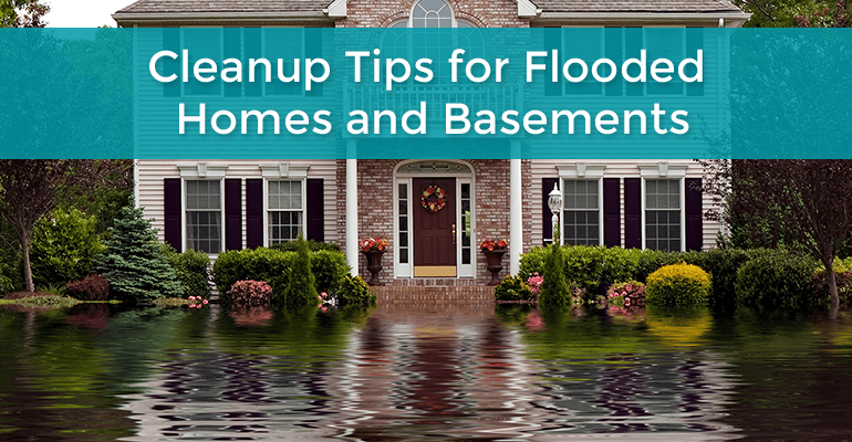 Clean up Tips for Flooded Home