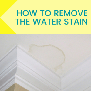 how to remove a water stain