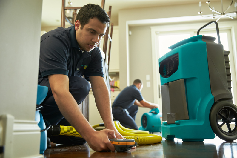 flood damage clean up process from servicemaster chicago
