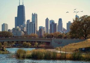 nature boardwalk in lincoln park chicago