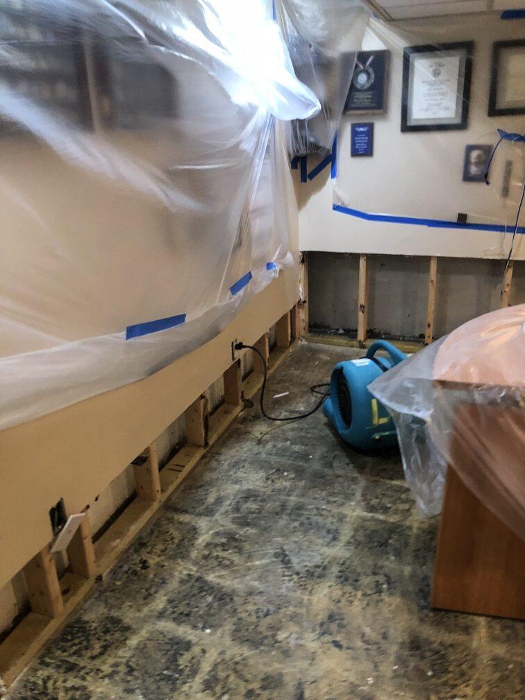 water damage in basement