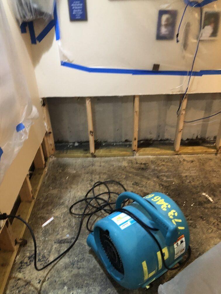 water damage restoration in basement