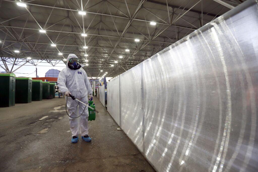 facility disinfectant spray down