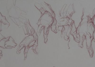 Copy after Bridgeman Hand Studies