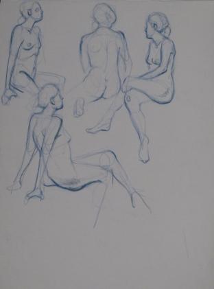 Four Blue Nudes