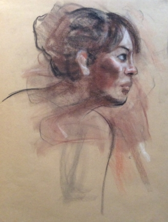 Woman's Head in Profile