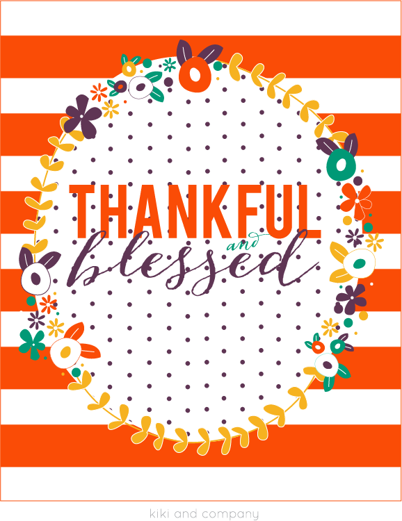 New and FREE Thanksgiving print from kiki and company. LOVE this!