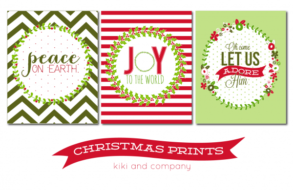 Free Christmas Prints from kiki and company. 3 different designs!