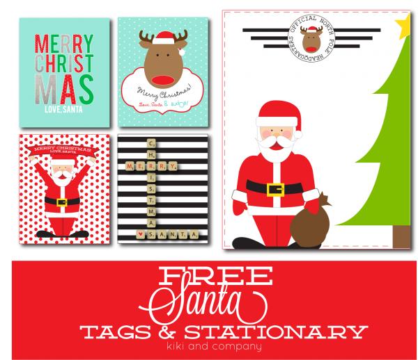 Free Santa Tags and Stationary
