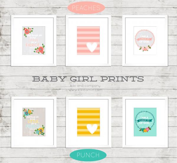 Baby Girl Prints by kiki and company