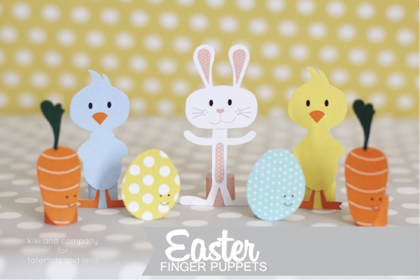Free Easter Finger Puppets at tatertots and jello. So cute!