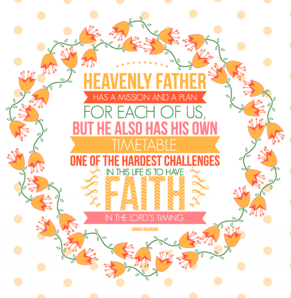 General Womens Meeting-Heavenly Father has a mission and a plan for each of us