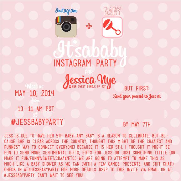 Instagram Baby Shower Invitation