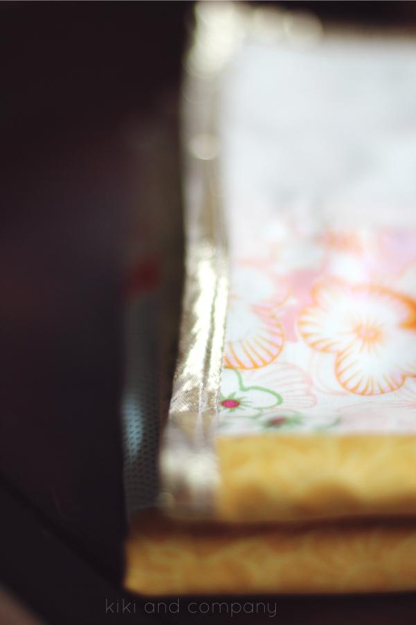 Instagram Baby Shower. That gold binding!