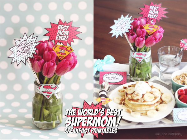 The World's Best Supermom Breakfast Printables for Mother's Day