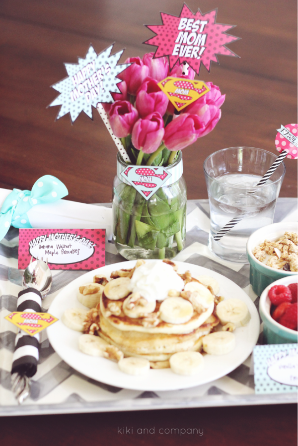 The World's Best Supermom Breakfast Printables. Love these.