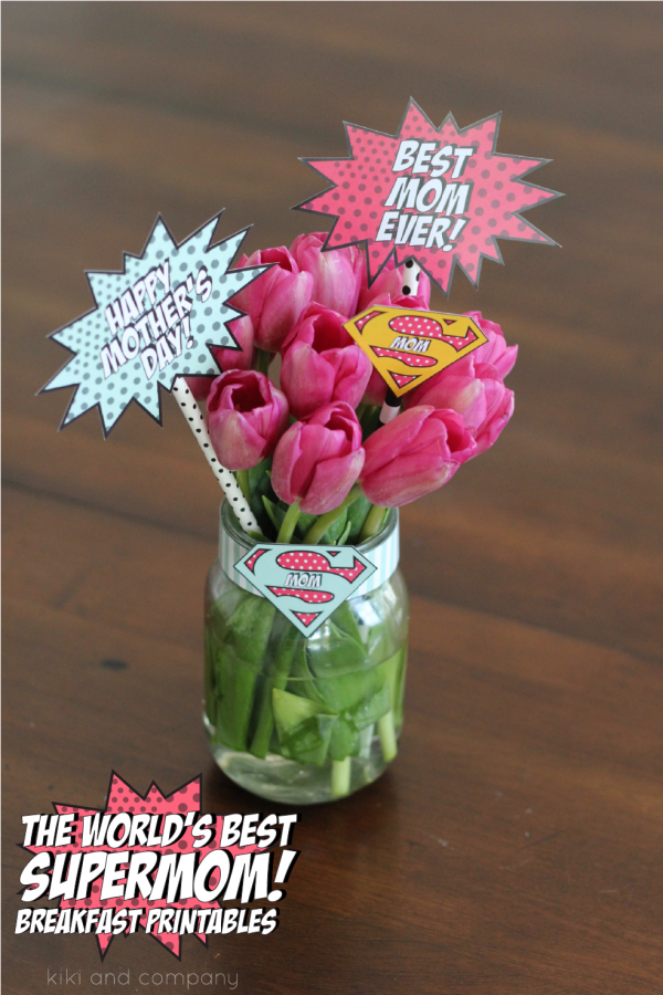 The World's Best Supermom Breakfast Printables. So cute!