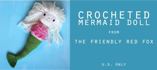our crocheted mermaid