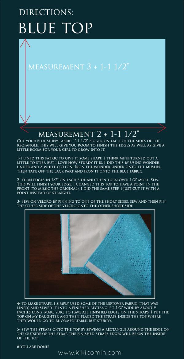 DIY Cinderella Dress Top instructions 2