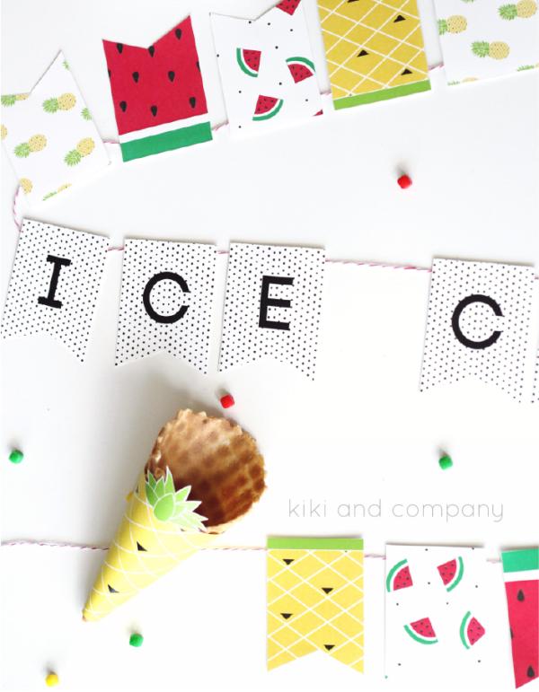 Ice Cream Banner at kiki and company. Cute!