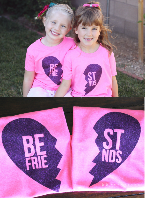 Best Friends Shirts with HTV Glitter Vinyl + DOZENS OF OTHER VINYL PROJECT IDEAS WITH VINYL EXPRESSIONS