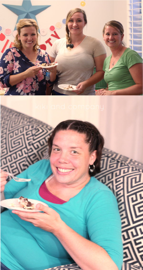Pie Party Girls Night in at kiki and company. Cute!