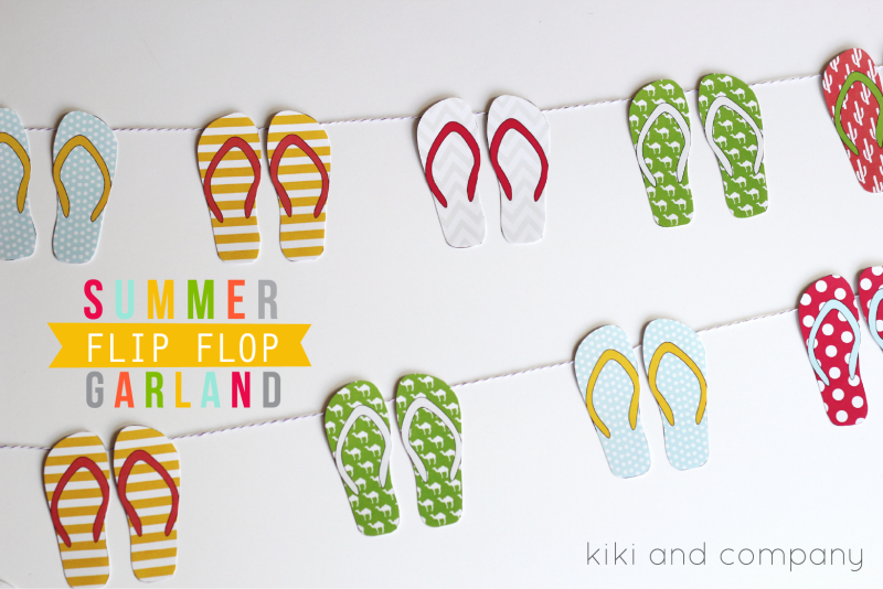 Summer Flip Flop Garland from kiki and company. CUTE!