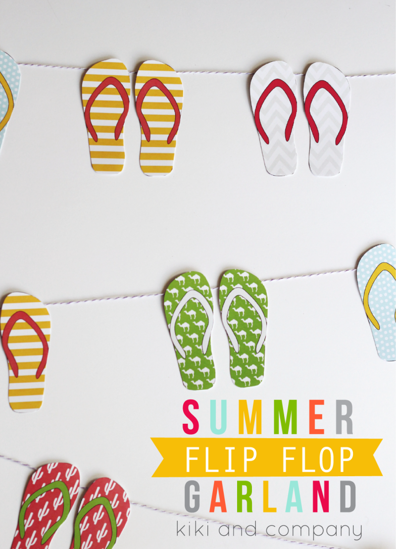 Summer Flip Flop Garland from kiki and company. LOVE!