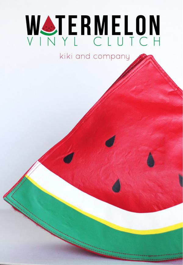Watermelon Vinyl Clutch from kiki and company