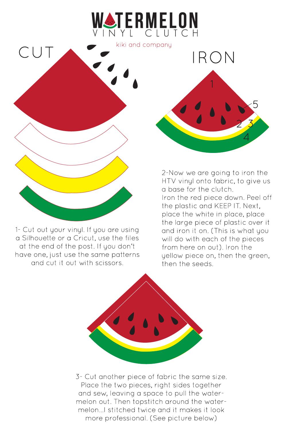 Watermelon Vinyl Clutch instructions