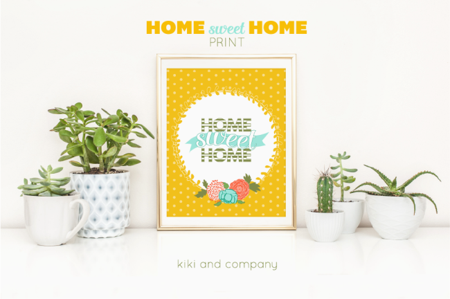 Home Sweet Home Print from Kiki and Company. Cute!