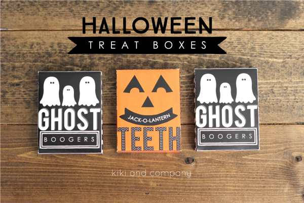 Halloween Treat Boxes from Kiki and Company. FUN!