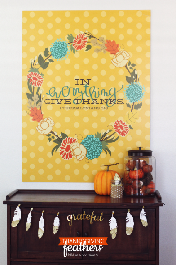 Thanksgiving Feathers free printable from kiki and company. LOVE!