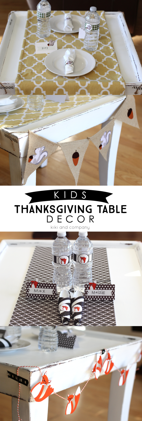Kids Thanksgiving Table Decor  from kiki and company