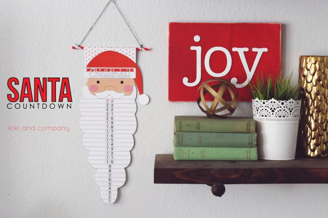 Santa Countdown from kiki and company