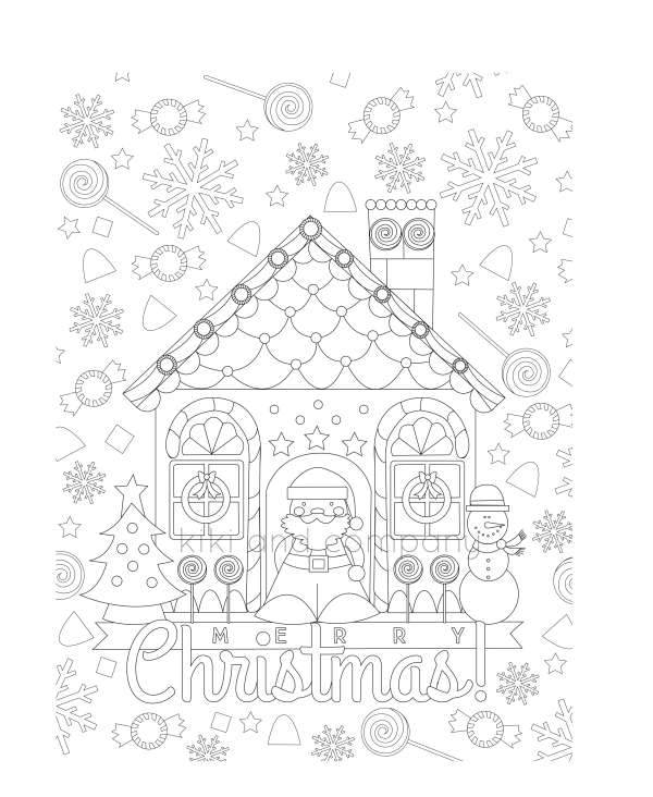 Christmas Coloring candy