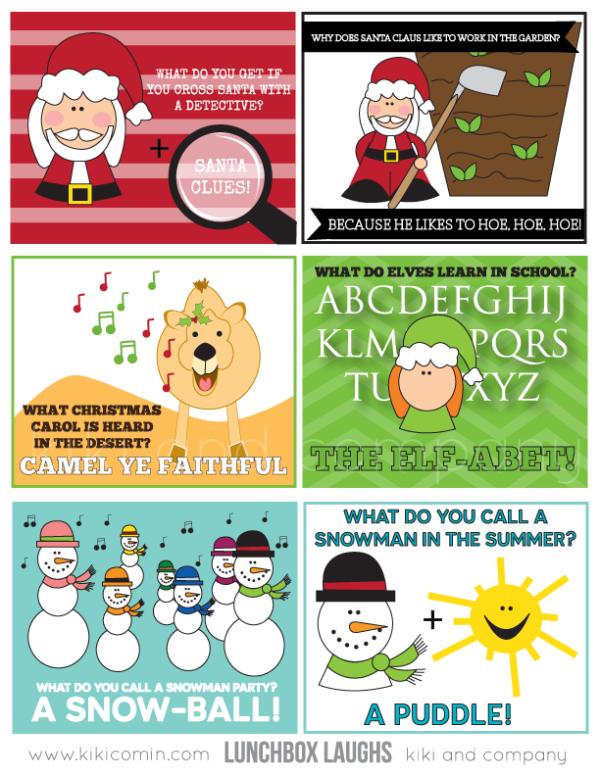 christmas lunchbox laughs from kiki and company #free #printable #christmas
