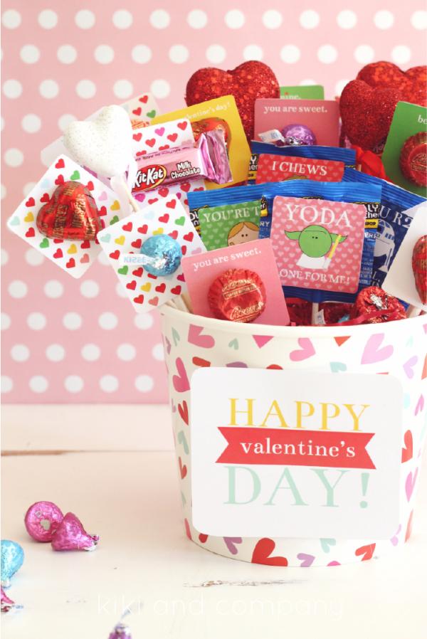 Hershey Valentine's Basket at kiki and company. Love this!