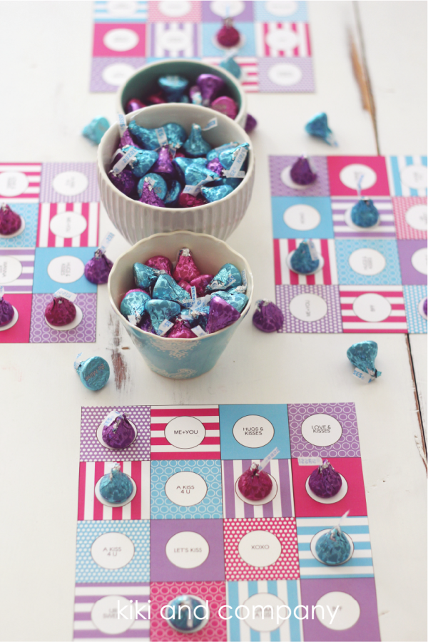 Hershey Conversation Kisses Bingo Game. Free printable