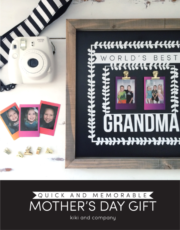 Quick and Memorable Mothers Day Gift from kiki and company. Such a fun gift!