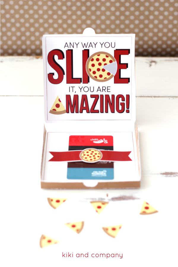 Teacher Appreciation Pizza Box Card from kiki and company. Love this!