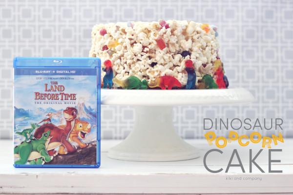 Dinosaur Popcorn Cake at kiki and company. LOVE this idea!