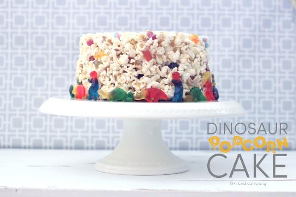 Dinosaur Popcorn Cake at kiki and company. yum!