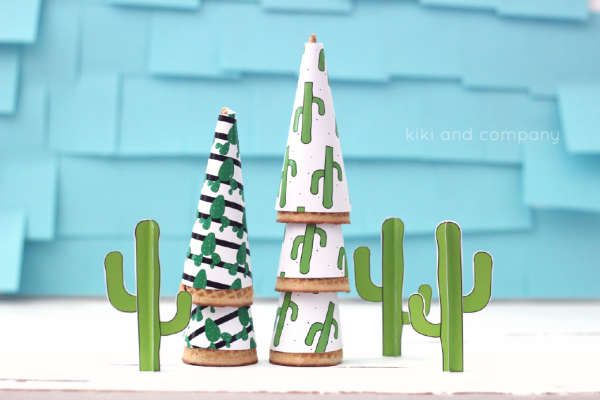 cactus party printables from kiki and company. ice cream wrappers