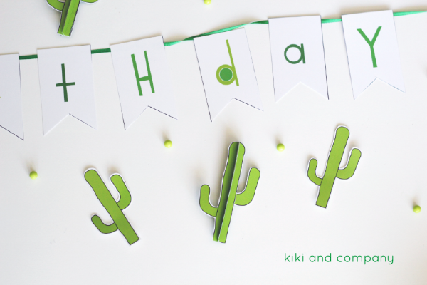 cactus party printables from kiki and company. love it!