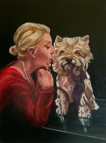 Sweet Porcelain - Lolli Hollsten - 18'' x 24'' - Oil on Canvas